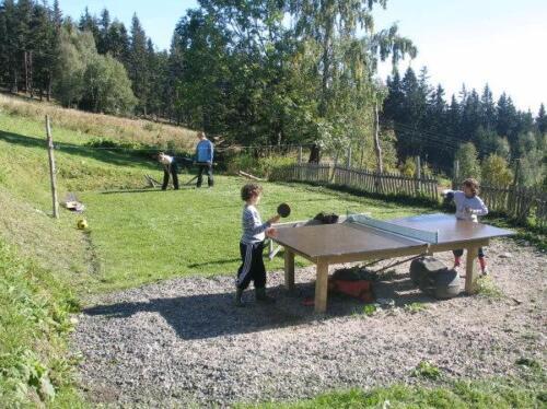Hřiště a ping pong u chalupy