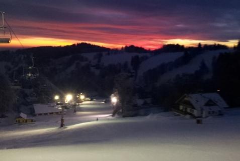 Čtyřsedačka Kejnos noční lyžování